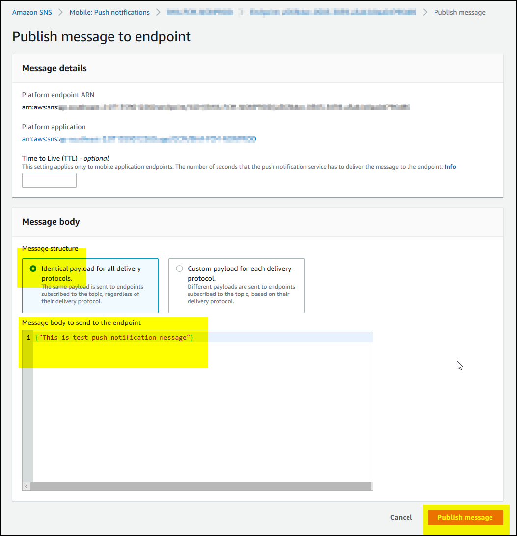 How to test Firebase Cloud Messaging (FCM) Push Notification to