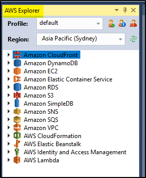 How to connect Visual Studio to AWS using AWS_SESSION_TOKEN