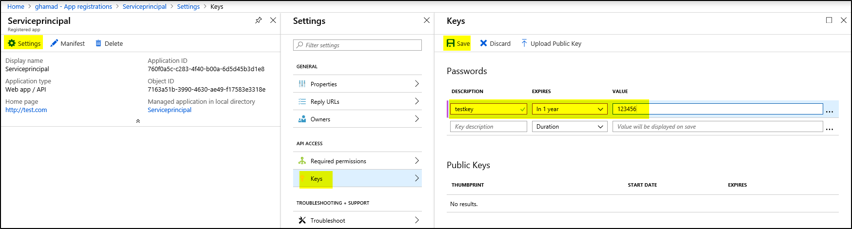 How to get access to the secrets saved in Azure Key Vault