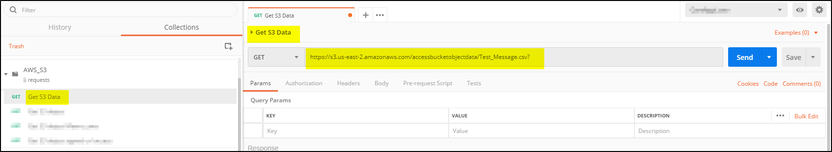 How to Get AWS S3 bucket object data using Postman – A